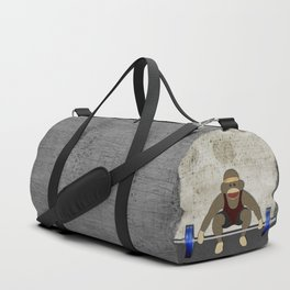 Sock Monkey Bodybuilder Duffle Bag