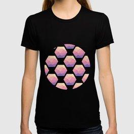 Low poly hexagons T-shirt