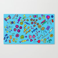 candy Canvas Prints featuring Candy by andy_panda_