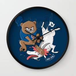 The Goat is Dead! (blue version) Wall Clock
