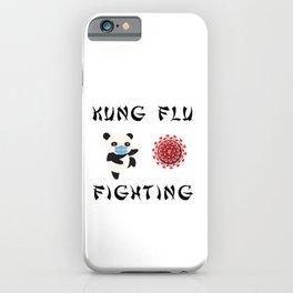 Panda Fighting Virus iPhone Case
