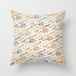 Beagle dog pattern Throw Pillow
