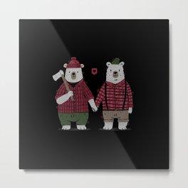 My Bear Valentine Metal Print