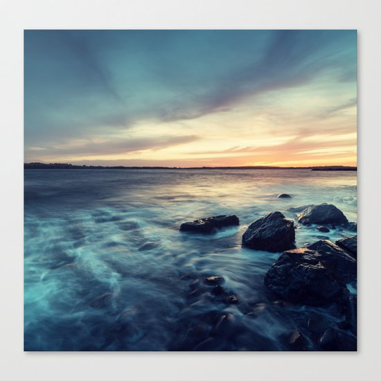 Sunset on the Breakwater Canvas Print