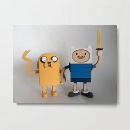 Wooden Toy Finn & Jake Metal Print