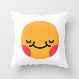 Emojis: Blush Throw Pillow