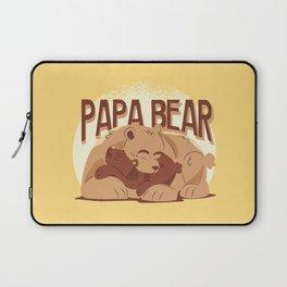Papa Bear Illustration Laptop Sleeve