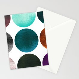 Colorful Gold texture Dots Stationery Cards