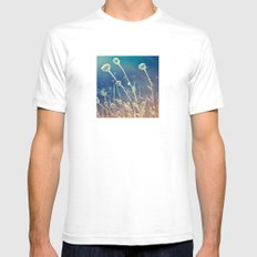 Blue and day  White Mens Fitted Tee SMALL