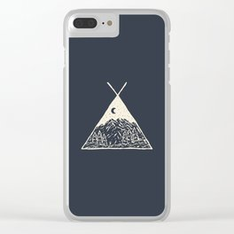 feel the outdoors Clear iPhone Case