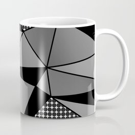 Monochrome Polygons Coffee Mug