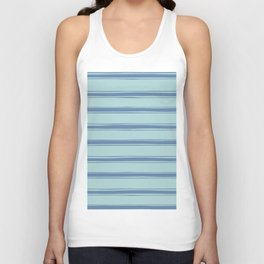 Cobalt blue french striped Unisex Tank Top