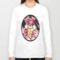 madoka magica Long Sleeve T-shirts featuring Madoka Kaname from Puella Magi Madoka Magica by Jazmine Phillips