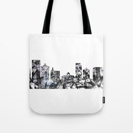 Atlantic City B&W - Splatter Tote Bag