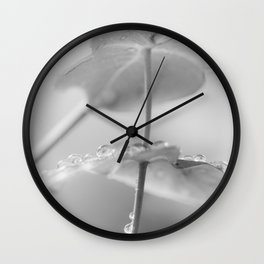 the art of peace (black and white) Wall Clock