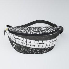 Terrazzo Pattern Black & White #1 #texture #decor #art #society6 Fanny Pack