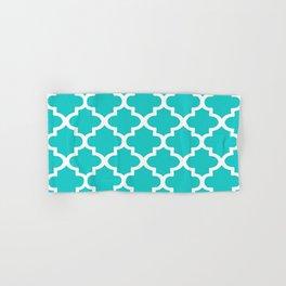 Arabesque Architecture Pattern In Sky Blue Hand & Bath Towel