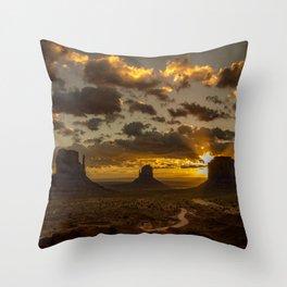 Monument Valley - Vivid Sunrise Throw Pillow