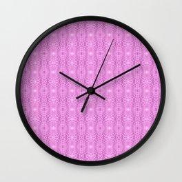Pink Metallic Gossamer Web Digital Art Wall Clock