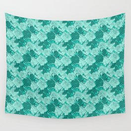 Seafoam Needles and Roses Wall Tapestry