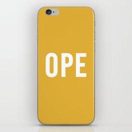 OPE Mustard iPhone Skin