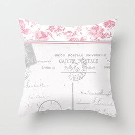 Emma in Red Throw Pillow