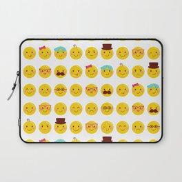 Cheeky Emoji Faces Laptop Sleeve