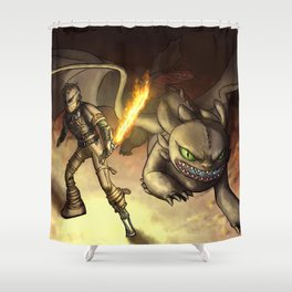 httyd2: To Battle Shower Curtain