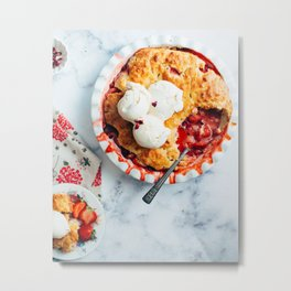 Strawberry Pie Metal Print