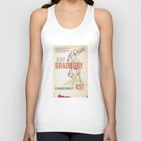 book cover Tank Tops featuring Fahrenheit 451 Book Cover by proudcow