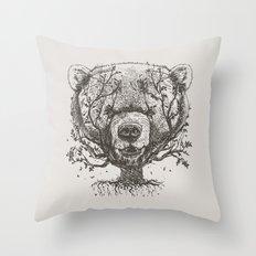 Bear n Tree Throw Pillow