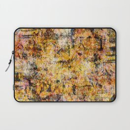 Urban Grunge Decay Texture Abstract Pattern Design , Rugged Mixed Media Modern Art Painting Laptop Sleeve