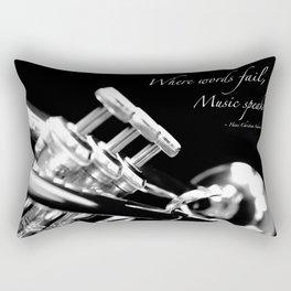 Music Speaks Rectangular Pillow