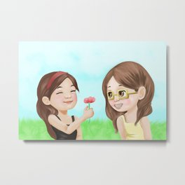 Kid!Faberry Metal Print