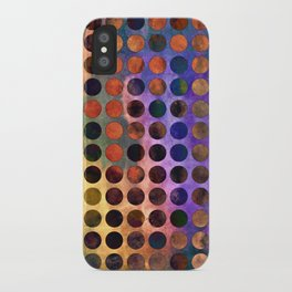MELANGE of VIOLET and RUST iPhone Case