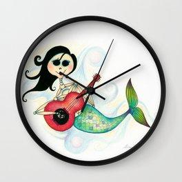 Sirenita Cucurumbe - Dia de los Muertos - Mermaid Wall Clock
