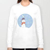 snowman Long Sleeve T-shirts featuring SNOWMAN by mimicat