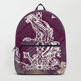 Gothic Cross: purple Backpack