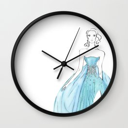 Floating Dress Wall Clock