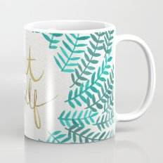 Treat Yo Self – Gold & Turquoise Mug