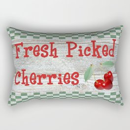 Fresh Picked Cherries Rectangular Pillow