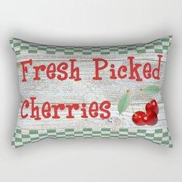 Fresh Picked Cherries Rectangular Pillow