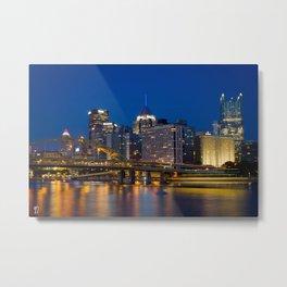 Pittsburgh Nights Metal Print