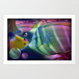 Fish type Art Print