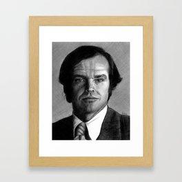 Jack Nicholson Portrait Framed Art Print