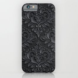 Black Damask iPhone Case