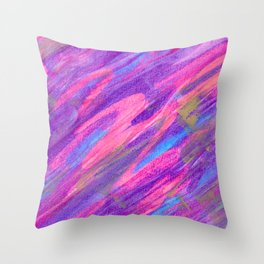 Pink Candy Inspired Abstract with Gold Accents Throw Pillow