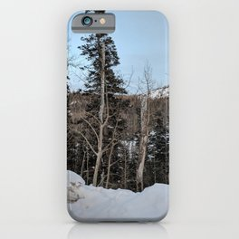 Snowy Day | Trees | Blue Sky | Nature | Outdoors | Landscape Photography iPhone Case