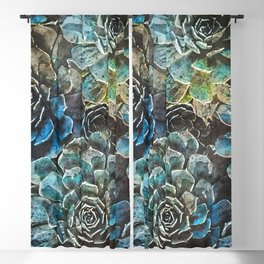 succulents flora art #succulents #flora Blackout Curtain
