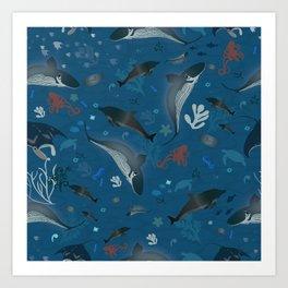 Under Water Sea Life 1 Art Print